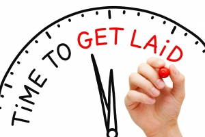 Time To Get Laid Clock Concept